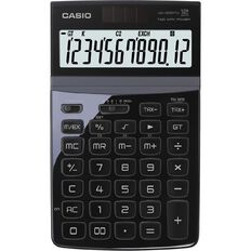 Casio Stylish Desktop Calculator Jw200Twbk Black