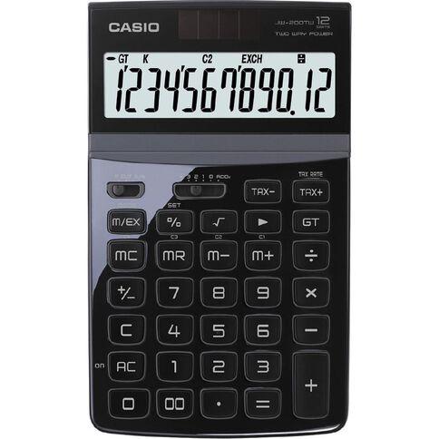 Casio Stylish Desktop Calculator Jw200Twbk Black