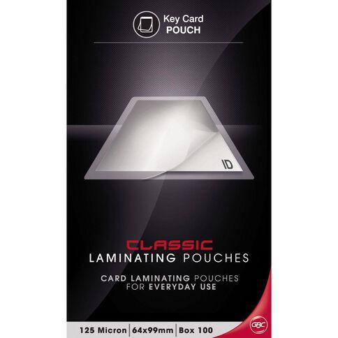GBC Laminating Pouch 64 x 99 125 Micron 100 Pack Clear