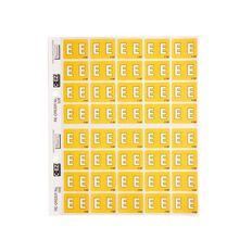 Filecorp Coloured Labels E Yellow