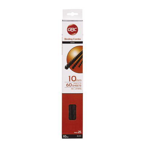 Ibico Binding Comb 10mm 25 Pack Black