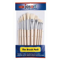 Jasart Paint Brush Short 10 Pack