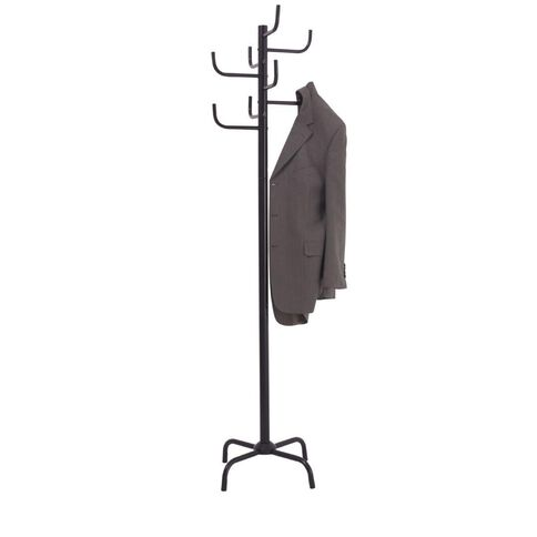 Jastek 8 Hook Coat Rack Black