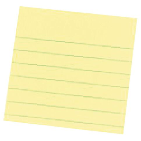 Post-It Notes 76mm x 76mm 630 Lined Canary Yellow