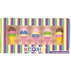 Kookie Ice Cream Eraser Pack