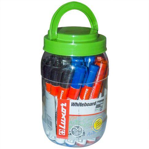 Luxor Whiteboard Marker Bullet Tip Assorted 24Pk Multi-Coloured