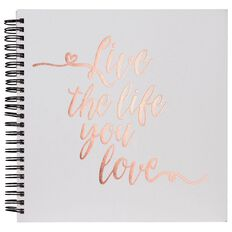 Rosies Studio Album 8 x 8 Live Life Love White