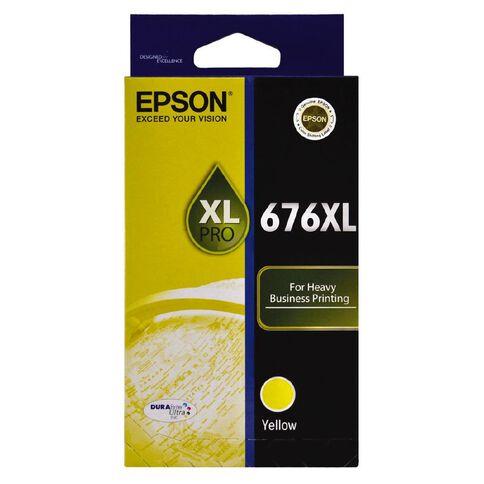 Epson Ink Cartridge 676XL Yellow