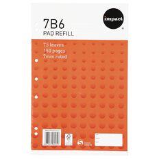 Impact Pad Refill 7B6 7mm Ruled 75 Leaf