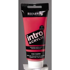 Reeves Intro Acrylic 100ml Rose Madder