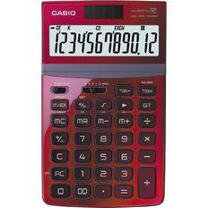 Casio Stylish Desktop Calculator Jw200Twrd Red