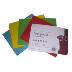 Flyer Paper 80Gsm 200 Pack Brights Assorted A5