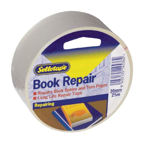 Sellotape Book Repair Tape 36mm x 25m Clear