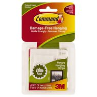 Command Picture Hanging Strips 17203 Small/Medium Value Pack