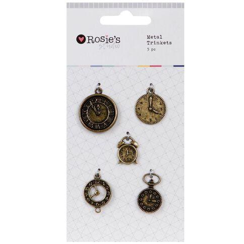 Rosies Studio Metal Trinkets 5 Pack Clocks