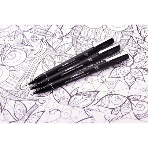Uni PIN Fineliner 0.3 Black
