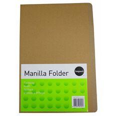 Impact Manilla Folders Foolscap Kraft 10 Pack