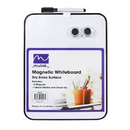 Modish Magnetic Whiteboard Medium Assd Cols White