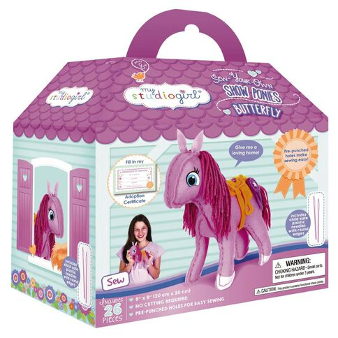 My Studiogirl Show Ponies Pink Buttlerfly