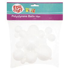 Educraft Polystyrene Balls 50 Pieces