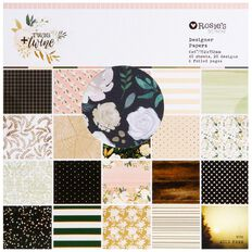 Rosie's Studio Twig & Twine 6x6in Designer Pad 40 Sheet Multi-Coloured