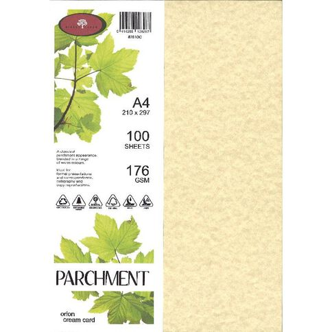 Parchment Paper 100gsm 100 Pack Orion Cream A4