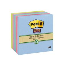 Post-It Recycled Super Sticky Notes 654-5Sst Bora Bora Collection