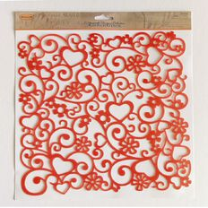 Ultimate Crafts LAquarelle Stencil 10 x 10 Assorted