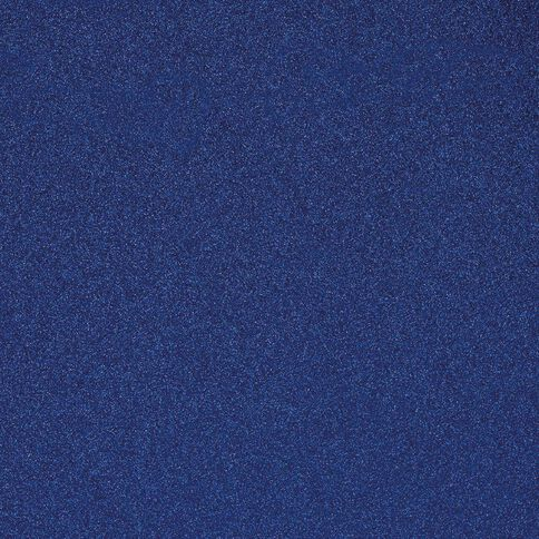 American Crafts Cardstock Glitter Medium 12 x 12 Marine Blue