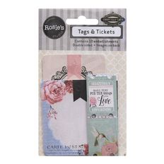 Rosies Chantilly Lace Ii Tags & Tickets 10Pk