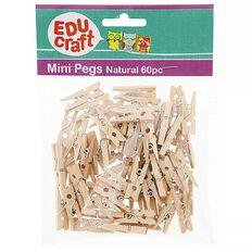 Educraft Mini Pegs 60 Pieces