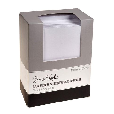 Grants Card Pack with Matching Envelopes 50 Pack White