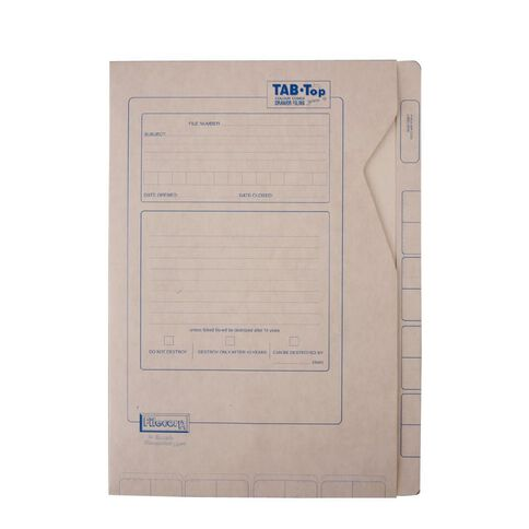 Filecorp Tab-Top Envelope File 2503 Foolscap Brown