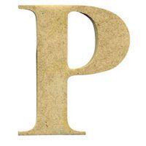 Sullivans Mdf Board Alphabet Letter 6cm P Brown