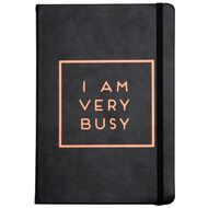 Uniti Softcover Faux Leather Notebook Rose Gold