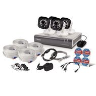 Swann 720P 4Ch 500GB Dvr + 4 x Bull Cams Kit White