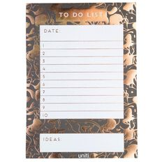 Uniti Rose Gold A5 To Do List Gold