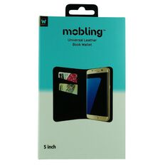 Mobling Universal 5 inch Folio Wallet Black