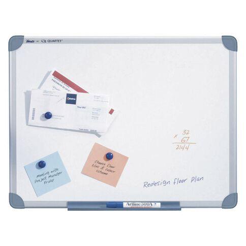 Penrite Magnetic Whiteboard 450 x 600 Aluminium Frame White