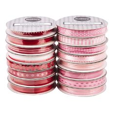 Rosie's Studio Everyday Ribbon Red and Pink 3m Assorted