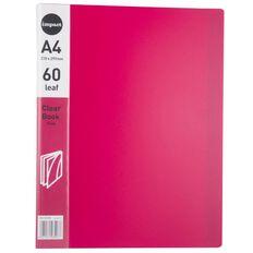 Impact Clear Book 60 Leaf Pink A4
