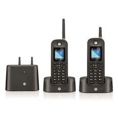 Motorola 0212 Twin Digital Cordless Phone Integrated Answering Machine