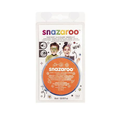 Snazaroo Face Paint 18Ml Pot Orange Orange