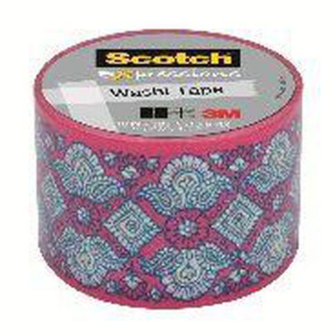 Scotch Washi Craft Tape 30mm x 10m Lace Pink