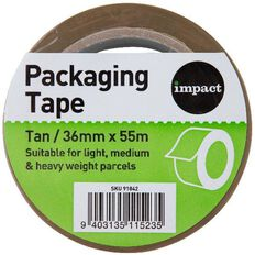 Impact Packaging Tape Low Noise Pp 36Mm X 55M Tan Multi-Coloured