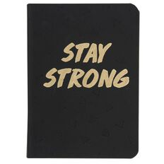 Banter Stay Strong Faux Leather Notebook A6