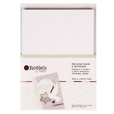 Rosie's Studio 2017 Festive Textured Cards And Envelopes 6 Pack C6