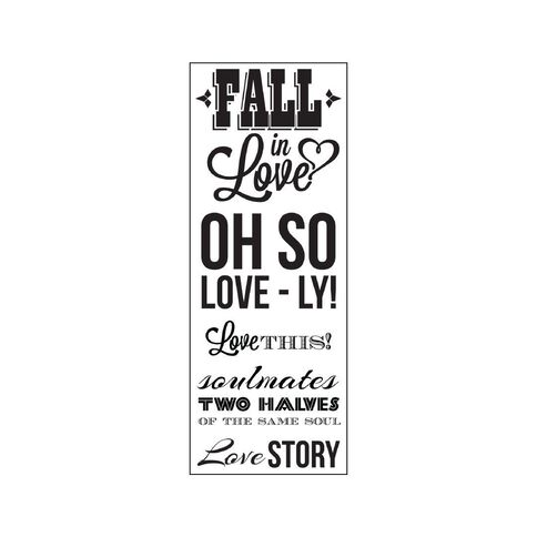 Kaisercraft Clear Stamps 50 x 130mm Something Blue