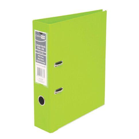 ColourHide Linen Lever Arch File Lime A4