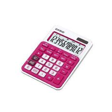 Casio 12-Digit Desktop Calculator Ms20Ncrd Red Red
